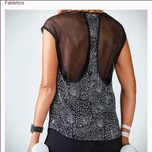 FABLETICS constellation print mesh top
